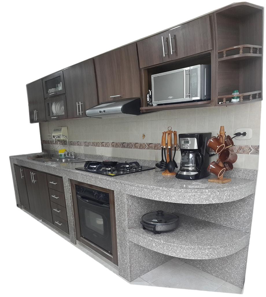Metalarco dise o de cocinas integrales en cali calle 70 for Gabinetes de cocina negro