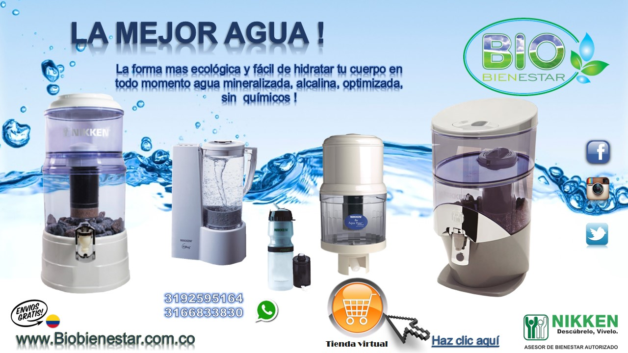 Purificador de agua pi water nikken original mejor precio for Filtro agua casa