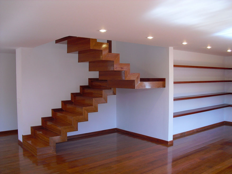 Venta escaleras de madera acero inoxidable escalera de for Closet en escaleras