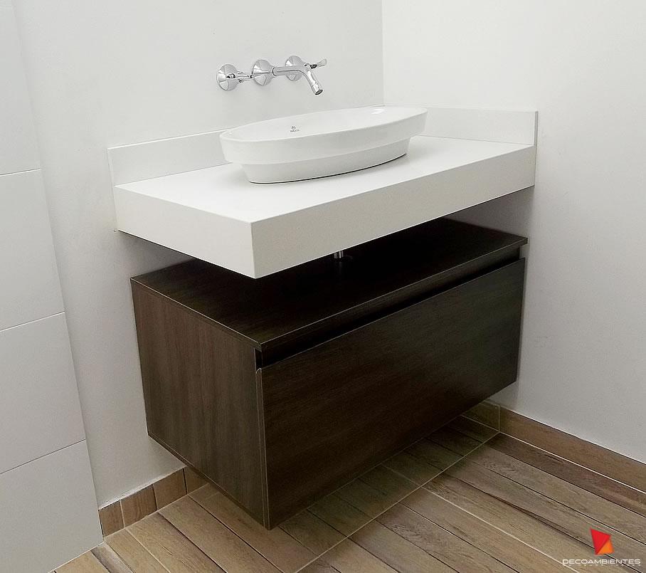 Muebles Para Baño Flotantes:En Decoambientes ofrecemos el servicio de fabricación de muebles para