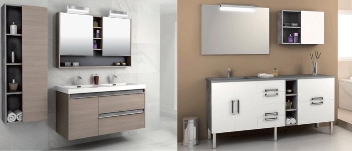 Diseo muebles cocina latest cocina moderna blanco rojo - Mobiliario bano ...